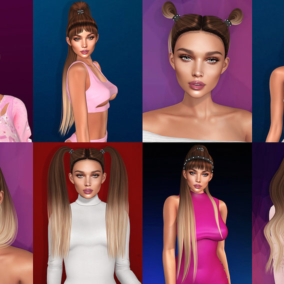 3d hairstyles for Second Life