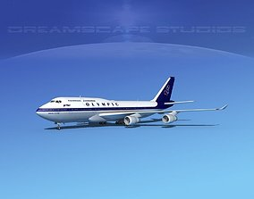 Boeing 747-400 Olympic Air 3D