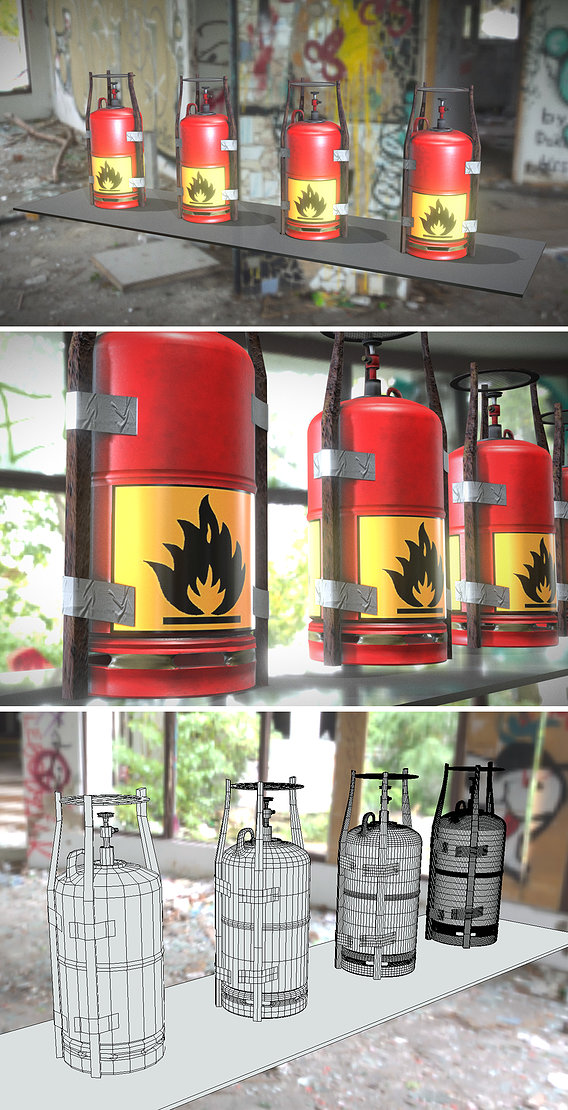 Gas Stoves made of Scrap and Duct Tape
