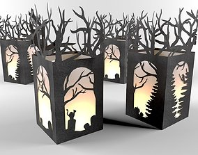 Paper Christmas lantern 3D model