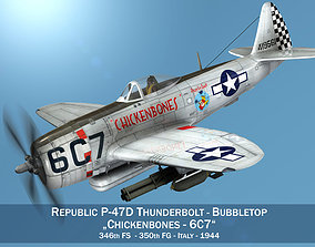 3D model Republic P-47D Thunderbolt - Chickenbones