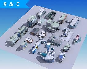 20 city building collection 3D asset