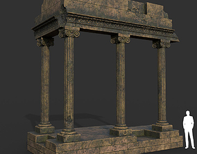 3D asset Low poly Ancient Roman Ruin Construction 01 - 1