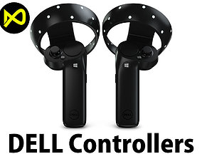 The Dell Visor Windows Mixed Reality Controllers 3D model
