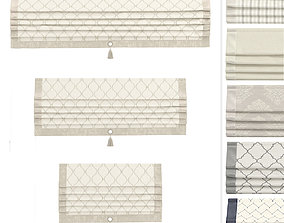 Roman Curtains Titos 3D asset