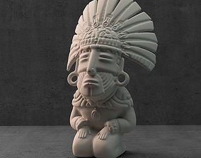 mexico 3D printable model Aztec sculpture