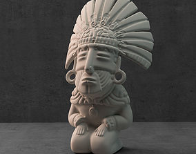 mexico 3D printable model Aztec sculpture