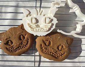 Cheshire Cat Cookie Cutter 3D print model