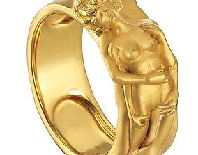 3D print model carerra y carerra couple wedding rings