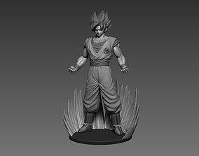 Son Goku Dragonball fan-art statue 3dprint