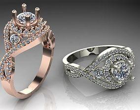 Wedding ring fashion jewelry design3 3D printable model