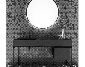 3D model Bathroom furniture set indoors