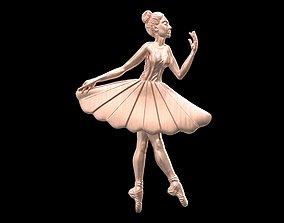 pendant 3D print model Ballerina ballet dancer