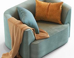 3D model cushion Globewest Juno Boris Armchair