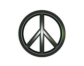 Peace Sign 3D