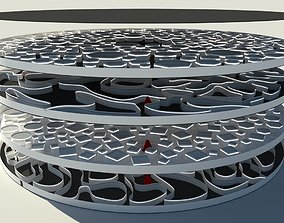 Futuristic Multi Level Labyrinth 3D model