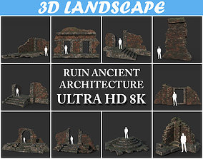 3D Low poly Ruin Construction Pack 200714