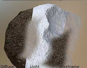 Gravel Pile Game-Ready 3D model