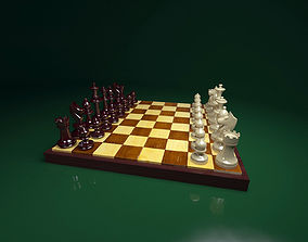 chess set 3D print model games-toys