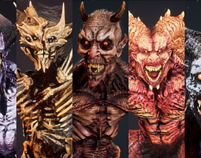 Demons Bundle 2 3D asset
