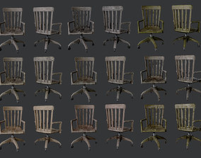 3D asset 10 Antique Desk Chair Game Ready