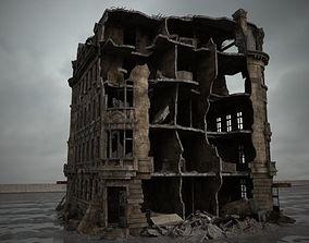 3D model destroyed building 088 am165