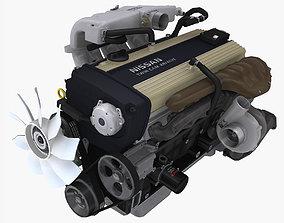 3D asset Nissan RB20DET engine