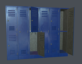 3D model Metal Locker PBR Game Ready