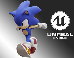 3D model Sonic Animated Unreal Engine 4