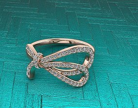 Tiffany Style Papillon Gold Ring 3D print model