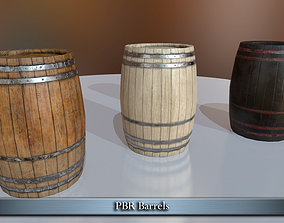 3D asset PBR Barrels