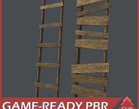 Western - Wooden Ladders 3D model