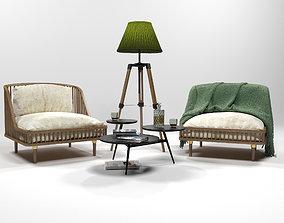 3D Furniture set 0206