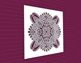 flower lasercut 3D model Mandala