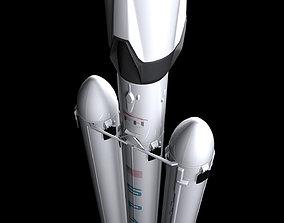 3D model Falcon Heavy Fully Reusable