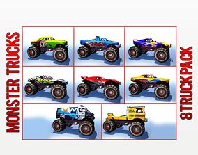 Monster Truck Pack 3D model