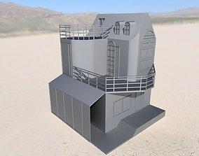 villa 3D asset low-poly