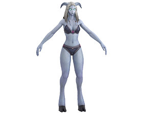 Draenei Female Full Rig and HumanIK 3D asset