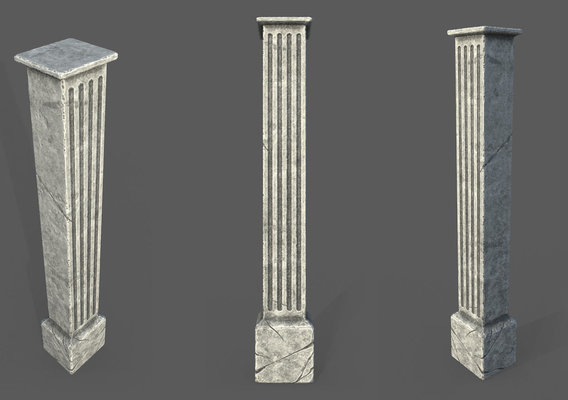 Game Art : Roman Column 2