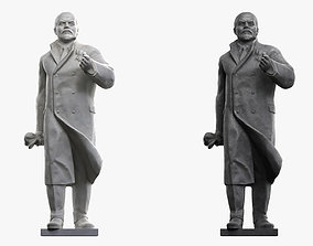 Lenin Sculpture 3D asset