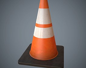3D model Traffic Cone PBR Game Ready