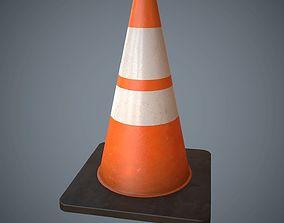 3D model Traffic Cone PBR Game Ready
