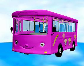 Cutie School Bus 3D model realtime