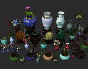 chinaware Chinese classical style Ornament vase 3D asset 1