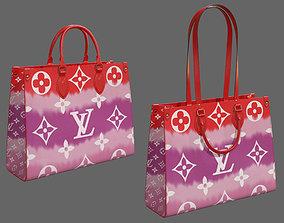 Louis Vuitton Bag Onthego Giant Monogram Red 3D model 2