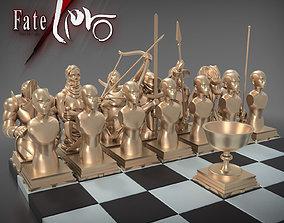 Complete Fate Zero Chess Set 3D model