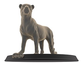 Leopard 3D print model statue