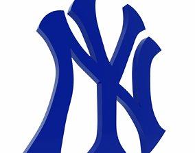 low-poly New York Yankees 3D Logo