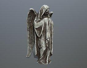 3D asset angel statue 1