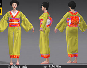 3D The kimono suit geisha suit Marvelous Designer project